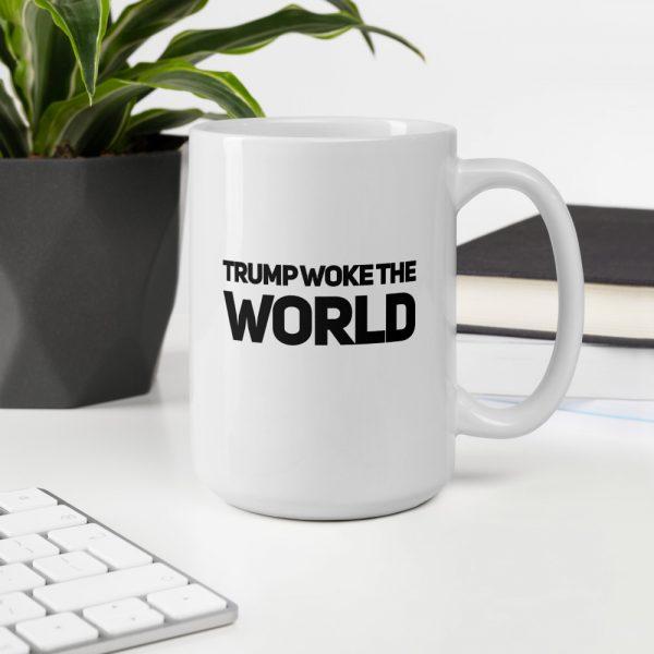trump woke the world mug